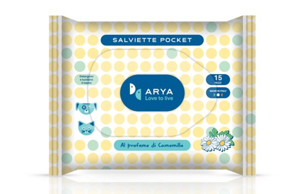 Salviette detergenti pocket alla camomilla